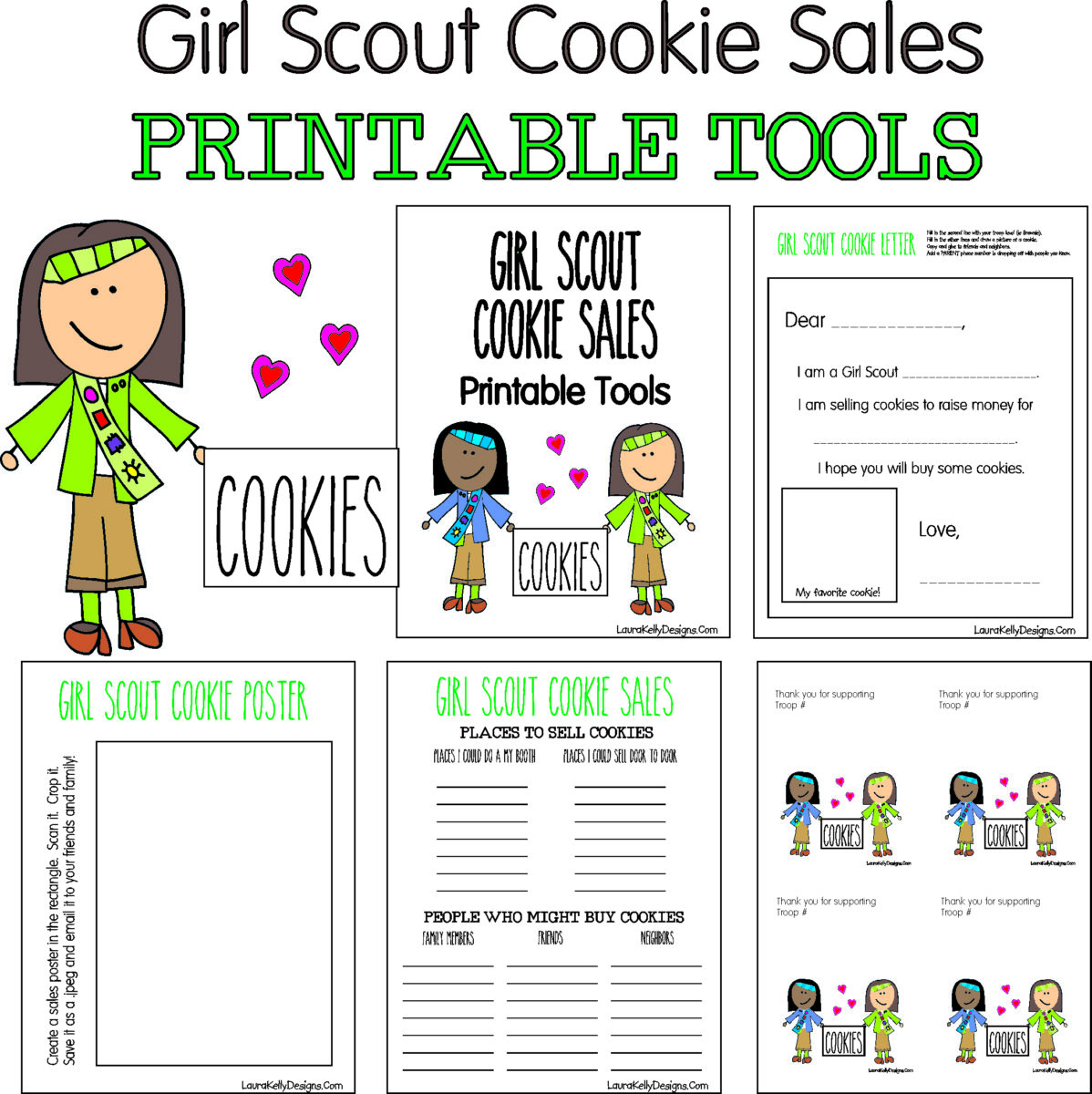 photo regarding Printable Tools known as Female Scout Cookie Revenue Absolutely free Printable Equipment - Laura Kellys