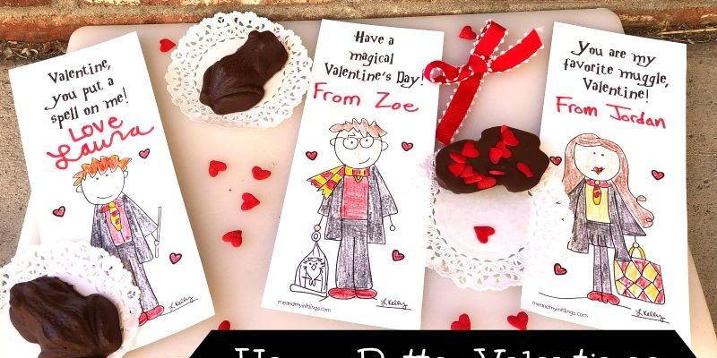 Harry Potter Valentines Day Printable Cards and Puzzle
