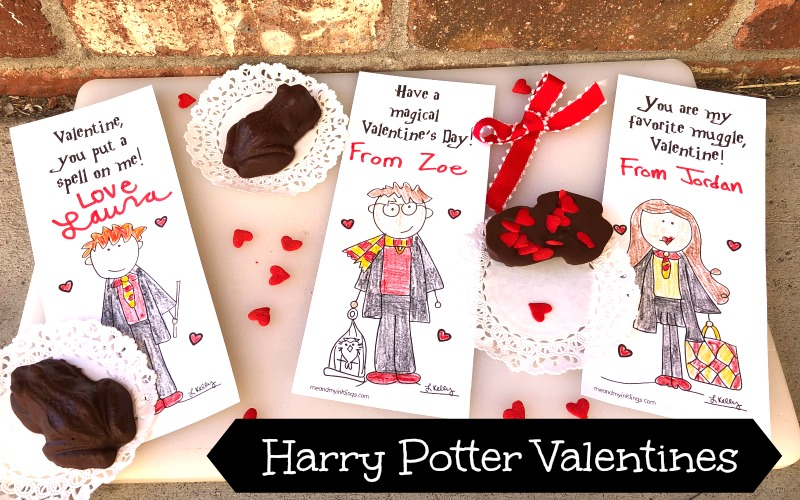 Harry Potter Valentines Cards and Printable Puzzle