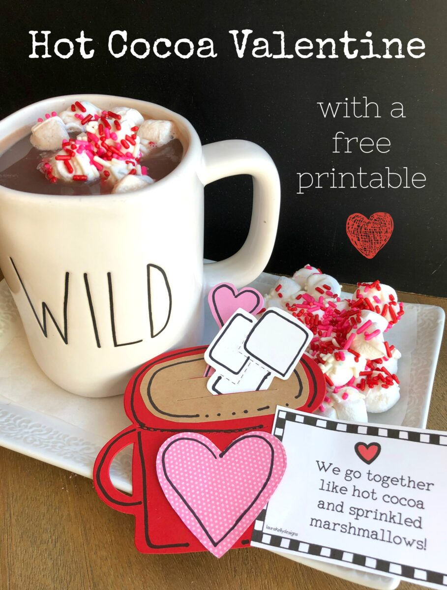 DIY Hot Cocoa Valentine with Free Printable and Directions