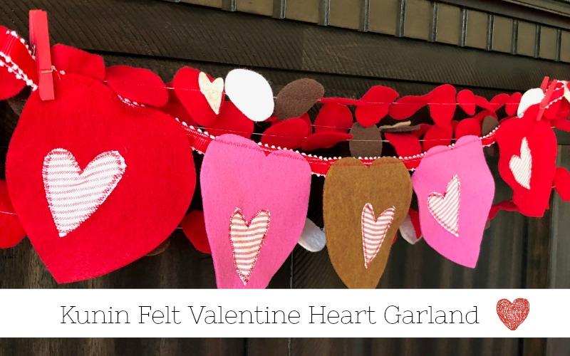 Felt Valentine Heart Garland Decor