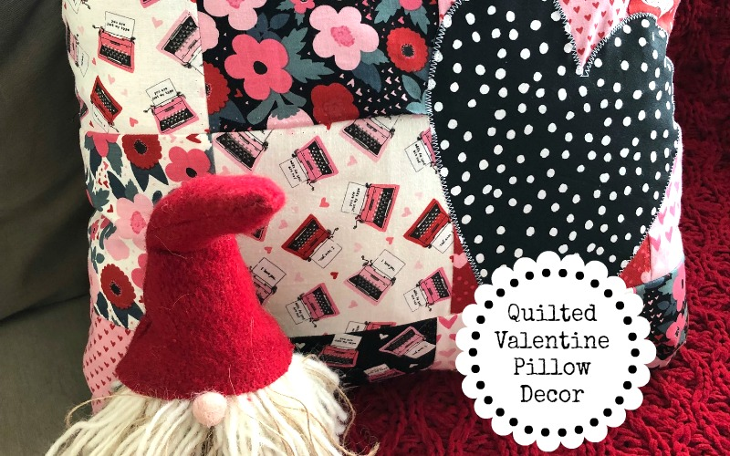 Quilted Valentine Pillow Decor