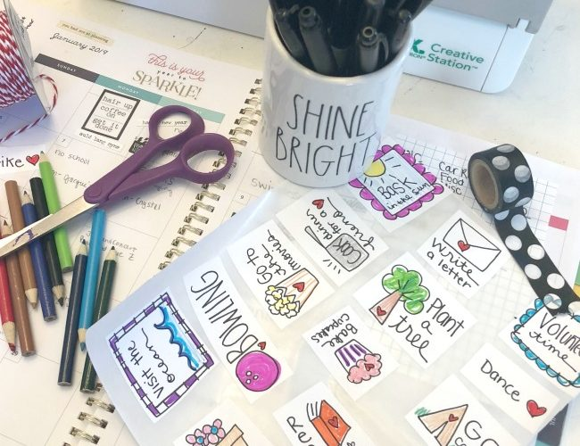 Create Happiness Goal Stickers for your Planner