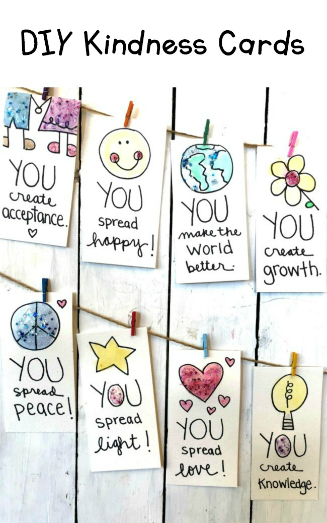 DIY Kindness Cards for Teaching Kids Random Acts of Kindness