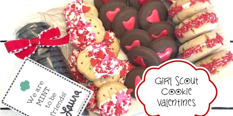 Girl Scout Cookie Valentines with Free Printable Download