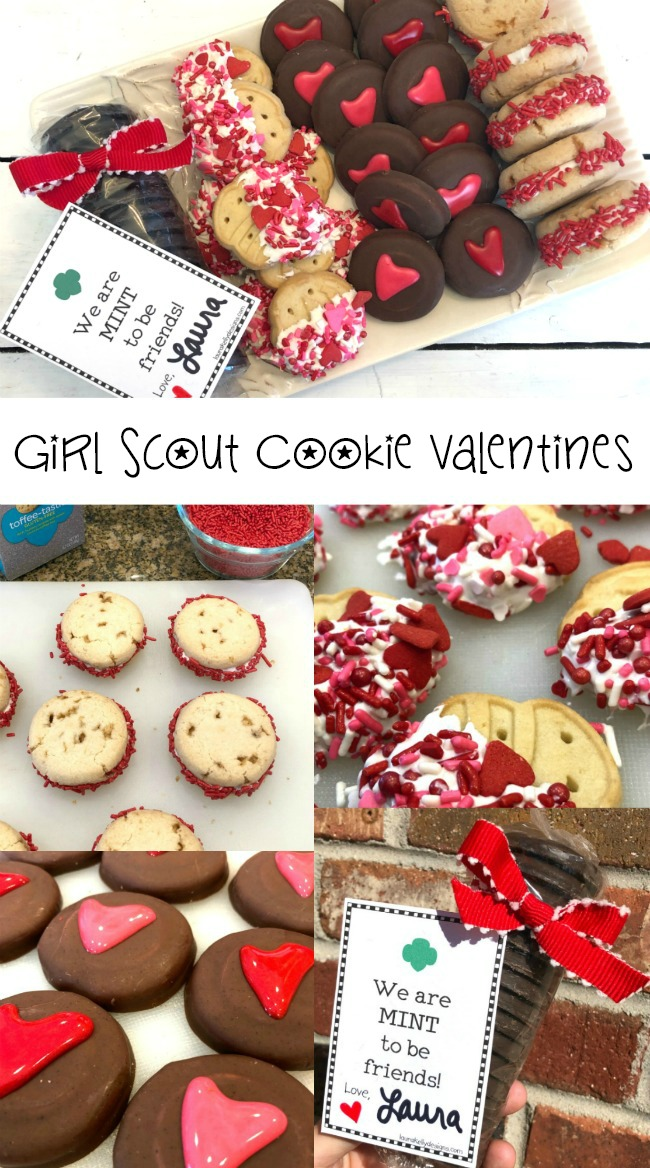 Girl Scout Cookie Valentines with Free Printable and Ideas