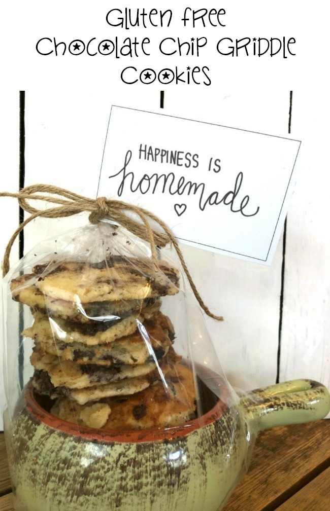Gluten Free Chocolate Chip Griddle Cookies Happiness is Homemade Tags