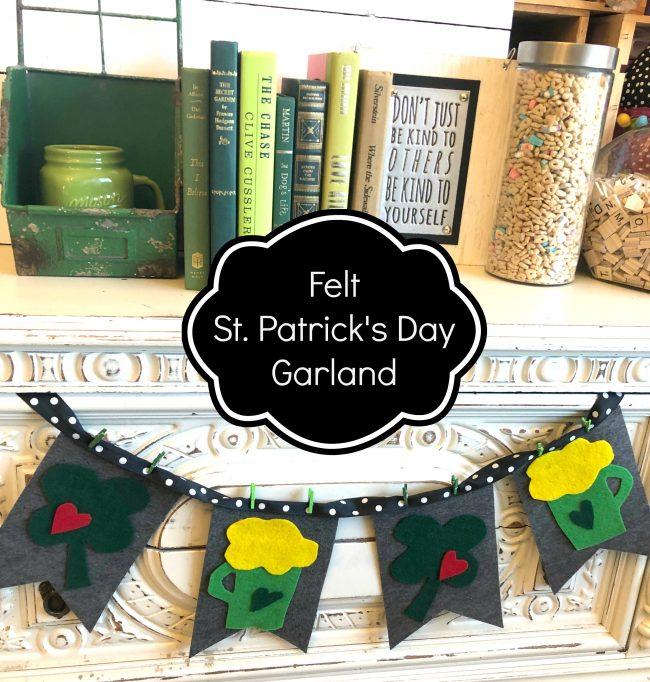 DIY St. Patricks Day Felt Garland Decor
