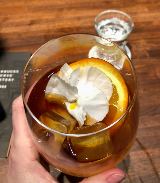 Orange Coffee Tonic Starbucks Reserve