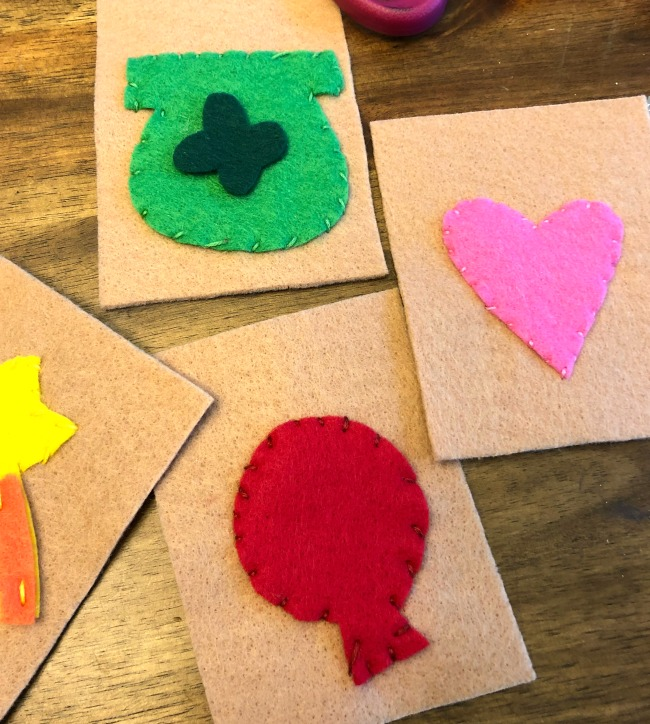 Stitched Lucky Charm Treats Garland Pieces