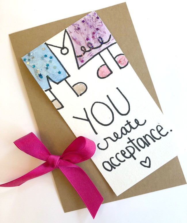 DIY Kindness Card You Create Acceptance