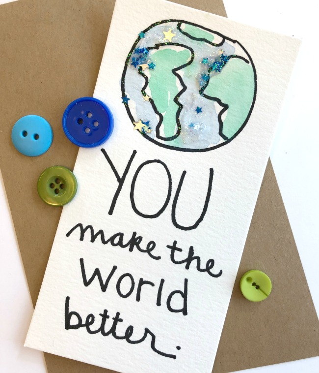 DIY Kindness Card You Make the World Better
