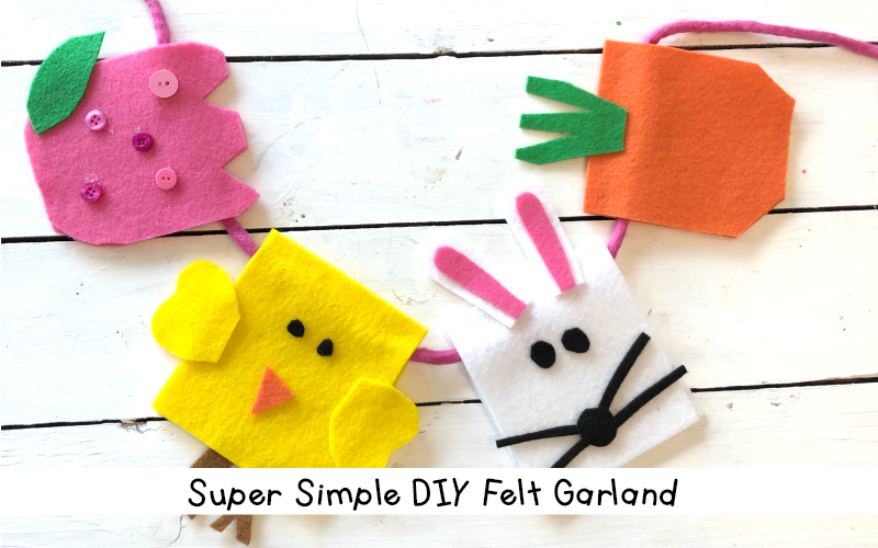 DIY Felt Easter Garland