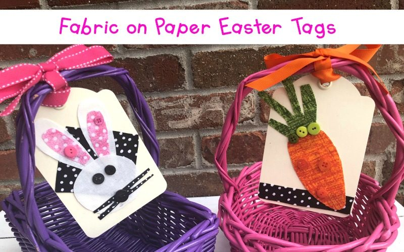 Fabric on Paper Easter Tags
