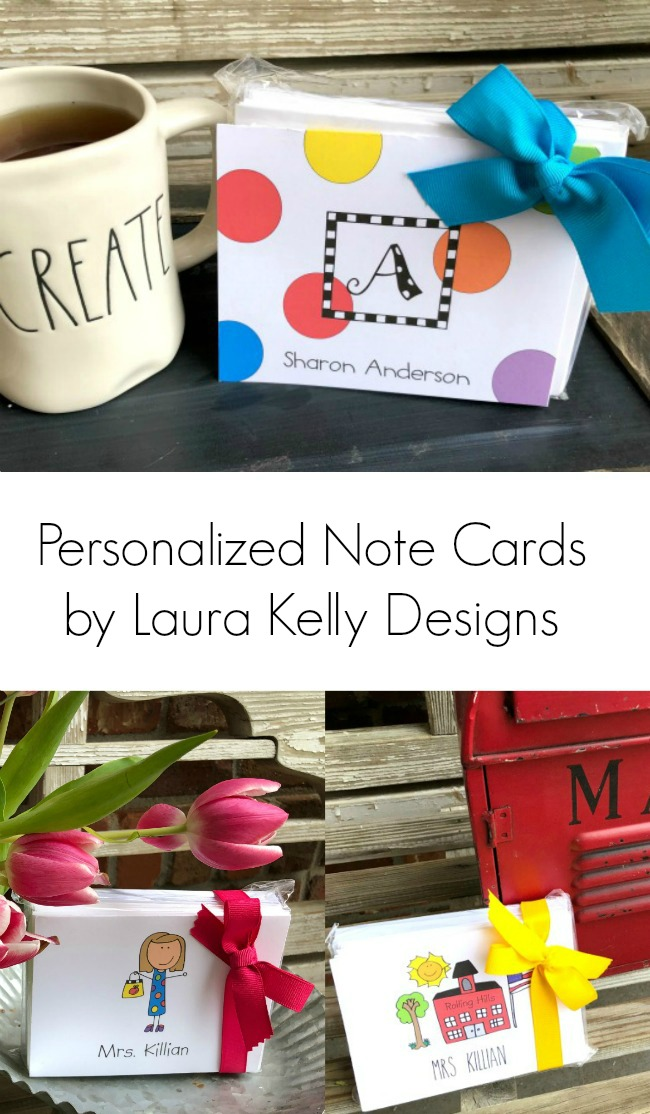 Personalized Note Cards for Teachers and Monograms Laura Kelly Designs