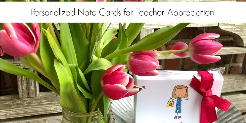 Personalized Teacher Note Cards from Laura Kelly Designs