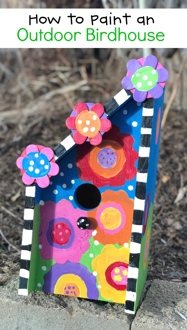 How to Paint an Outdoor Birdhouse Craft Project