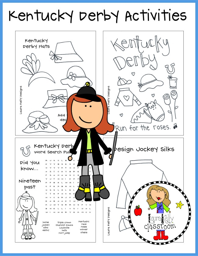 Kentucky Derby Activities for Kids Printables