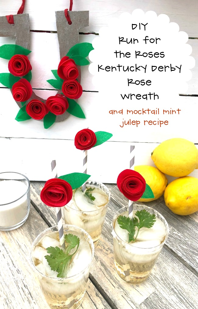 DIY Run for the Roses Kentucky Derby Rose Wreath