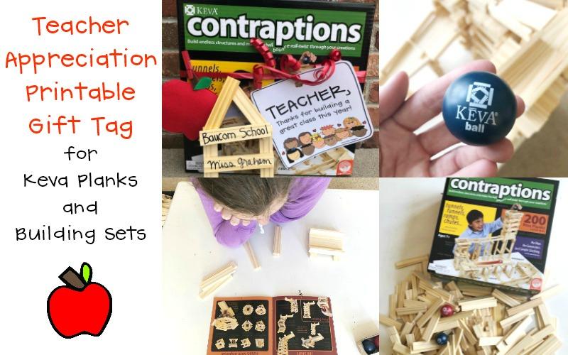 Keva Contraptions Teacher Appreciation Building Classroom Printable