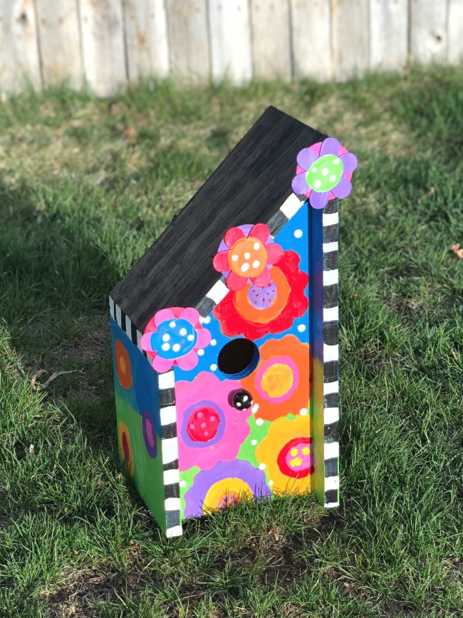 Outdoor Birdhouse Painting