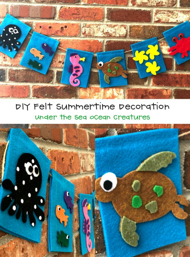 DIY Felt Summertime Coastal Decoration