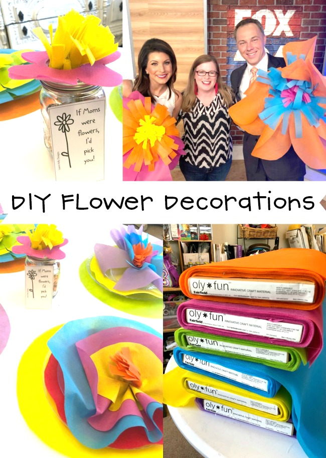 How to Make Giant Flowers and Flower Table Settings for Mothers Day