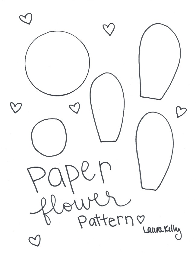 How to Make Paper Flowers at Home Free Pattern