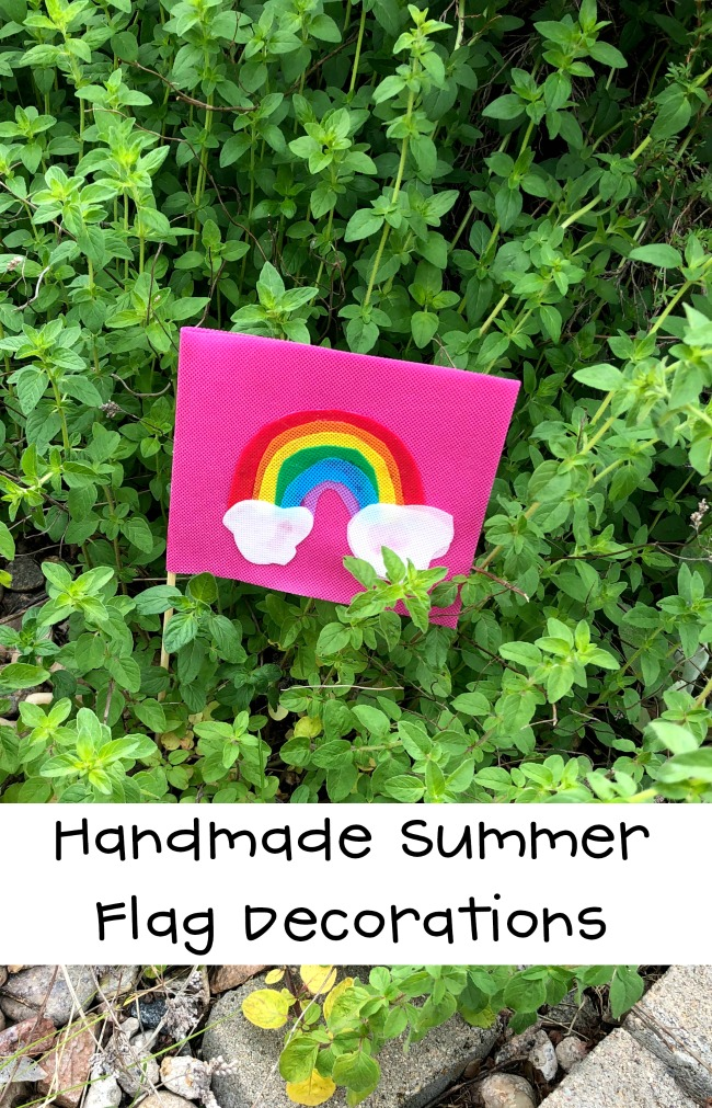 Handmade Summer Flag Decorations DIY Garden