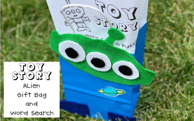 Make a Toy Story Alien Gift Bag