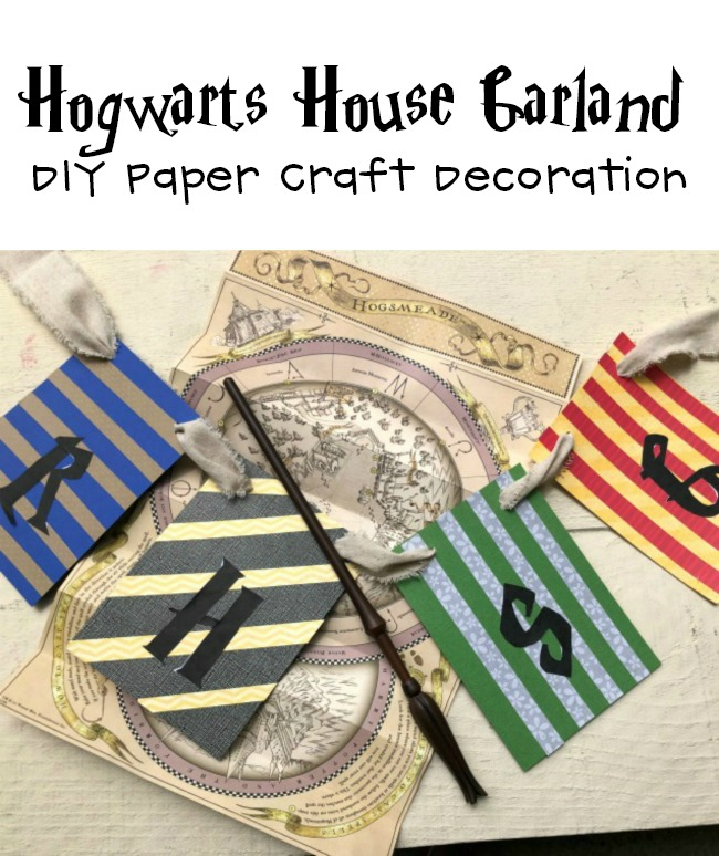 DIY Hogwarts House Letter Garland Decoration For Harry Potter Party Time