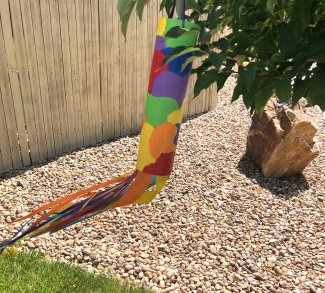 DIY Windsock from Recycled Paper Tube