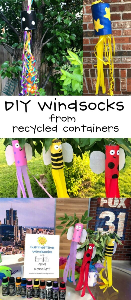 DIY Windsocks from Recycled Containers Craft Project