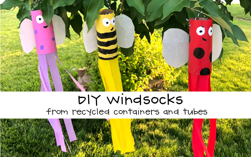 DIY Windsocks from Recycled Containers