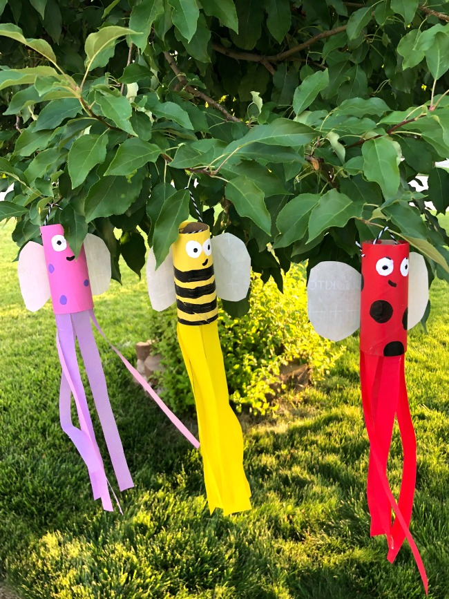 DIY Windsocks from Recycled Toilet Paper Tubes