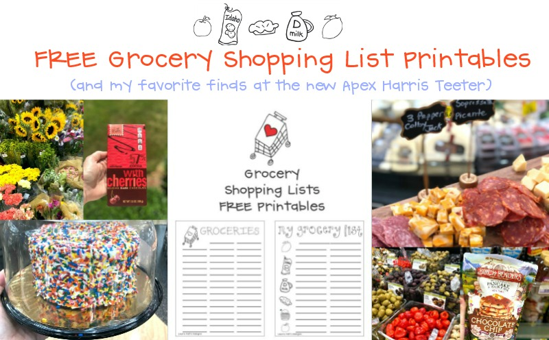 Free Grocery Shopping Lists