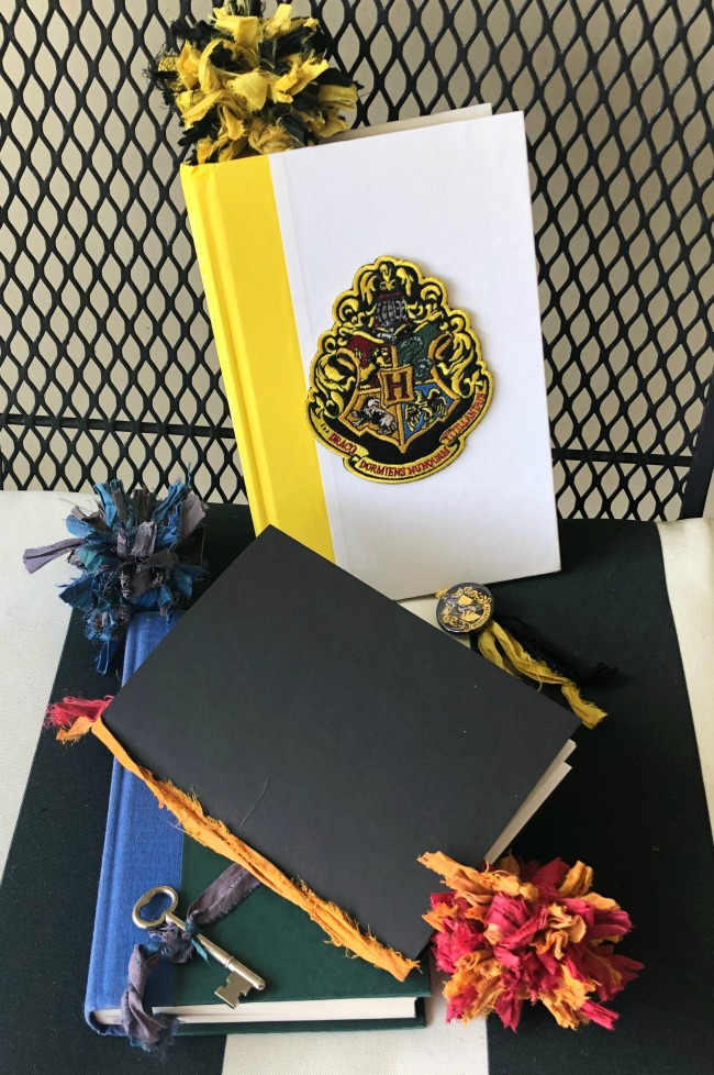 Harry Potter House Inspired Bookmarks with Pom Poms