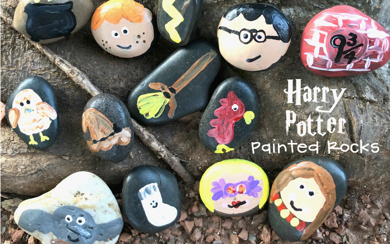 Harry Potter Kindness Rocks for Spreading Magic