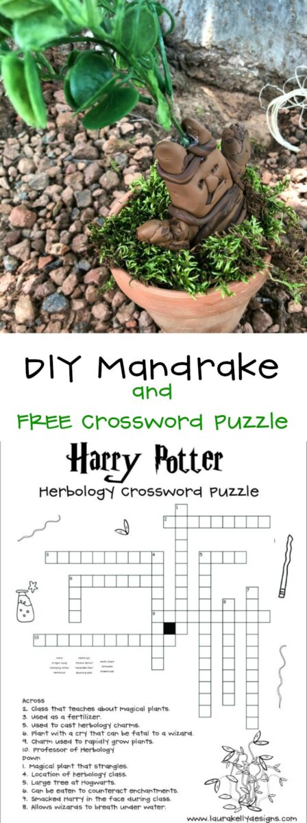 How to Make a Harry Potter Mandrake and Herbology Crossword Puzzle