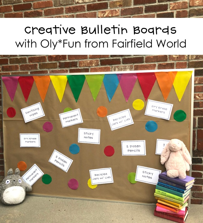 Create a Polka Dotted Rainbow Bulletin Board with Oly*Fun