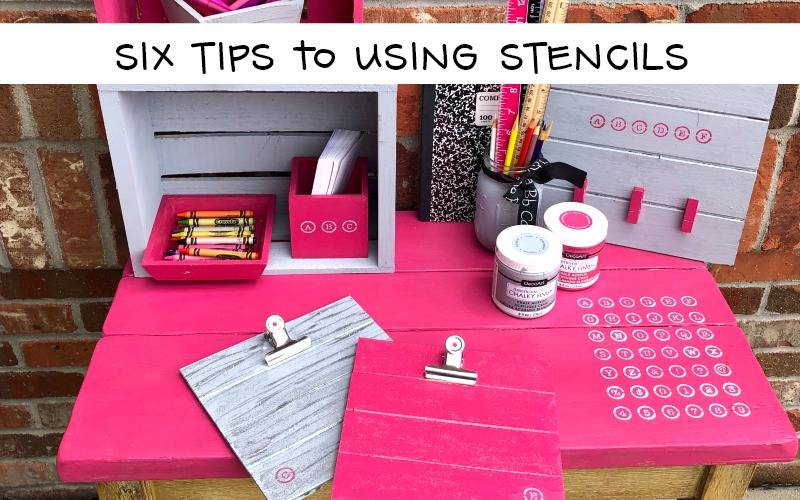 Six Tips for Using Stencils with Chalky Finish Paint
