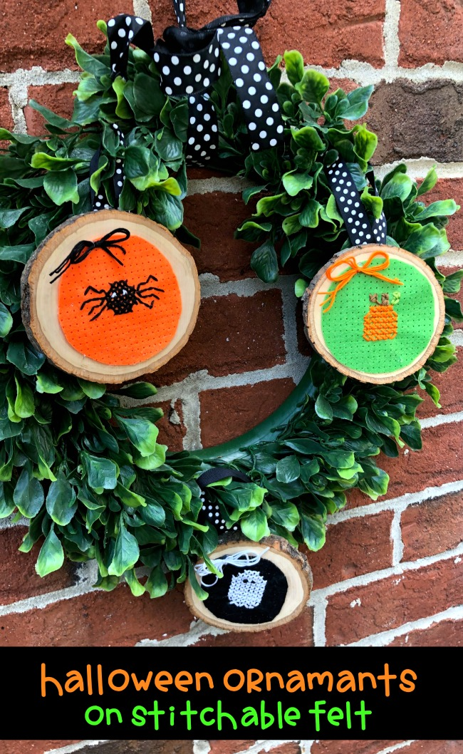 How to Create Cross Stitch Halloween Ornaments on Stitchable Felt