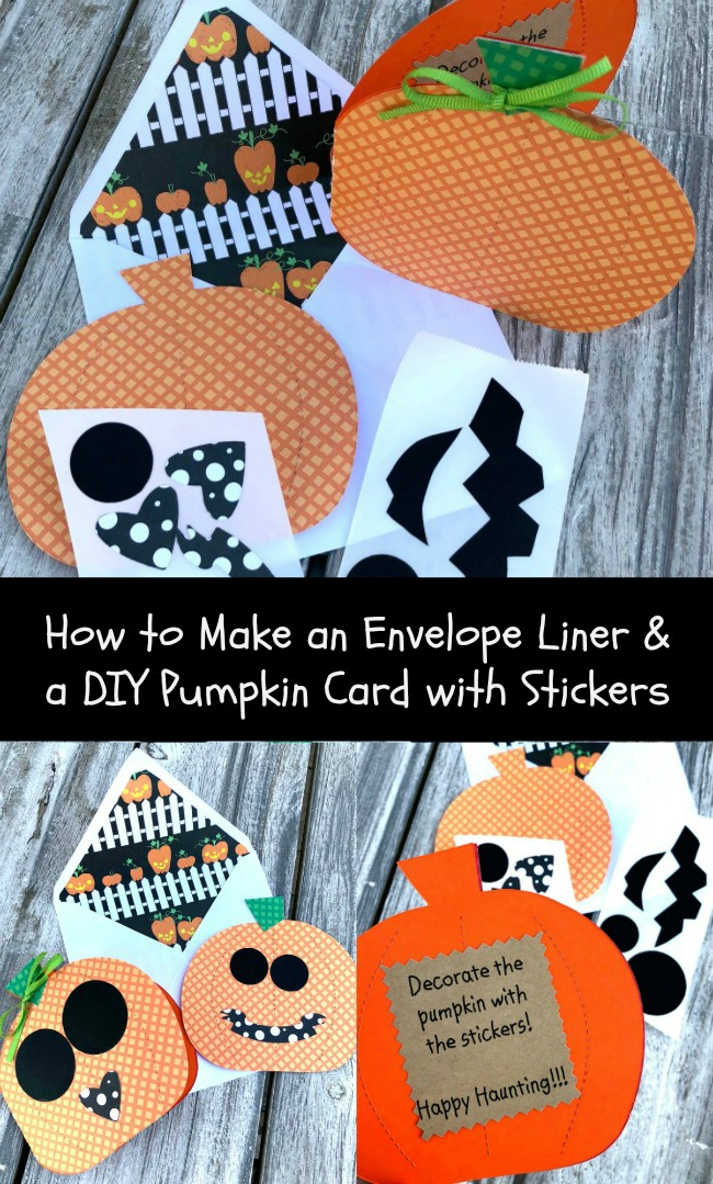 DIY Pumpkin Card and How to Make and Envelope LIner