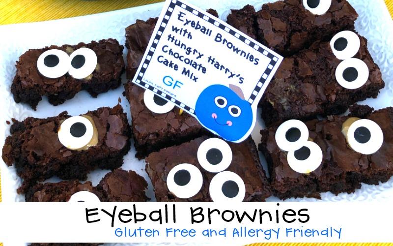 Eyeball Brownies for Teal Pumpkin Project Kiddos