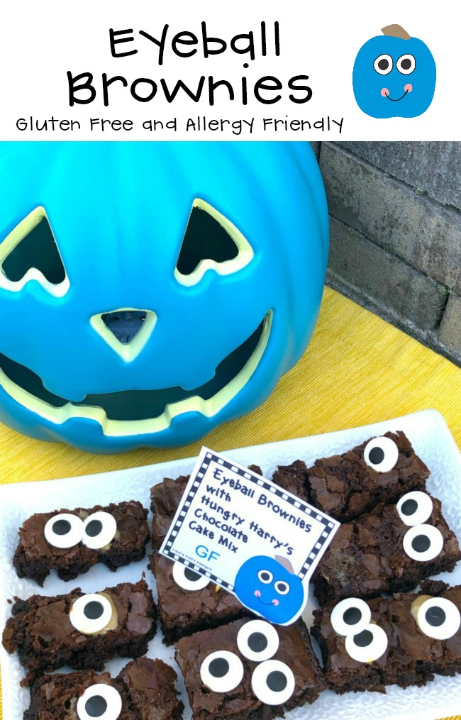 Eyeball Brownies Gluten Free and Allergy Friendly Treats