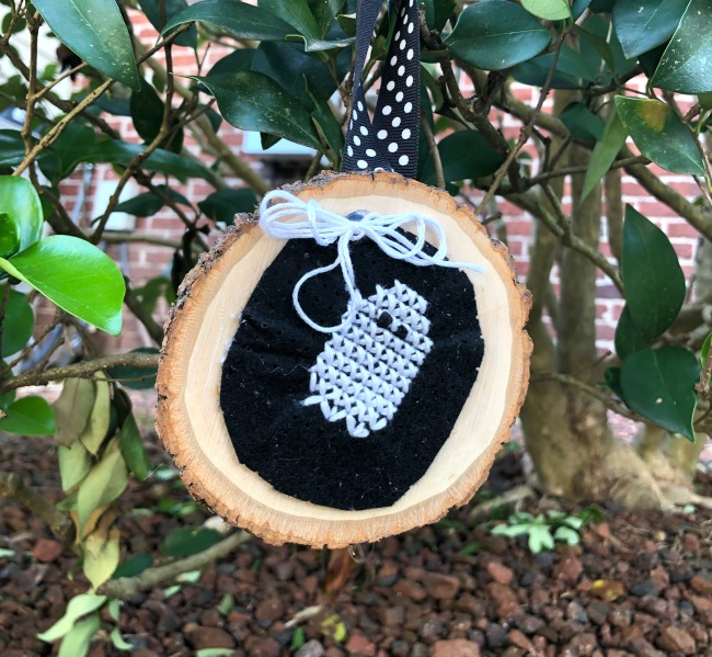 Ghost Stitchable Felt Halloween Ornament