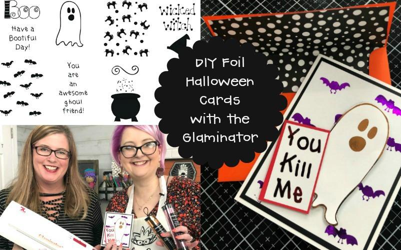 Spooky Halloween Foil Handmade Cards