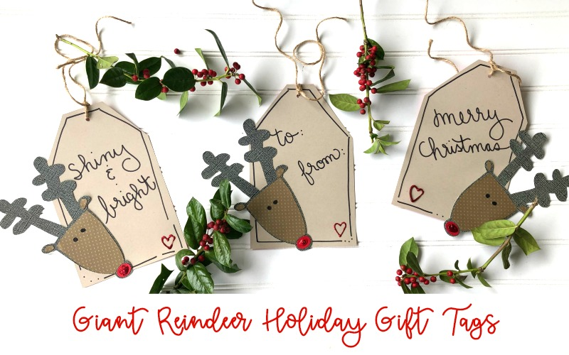 Giant Reindeer Gift Tags