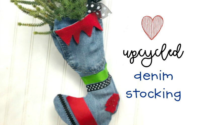 Upcycled Denim Stocking