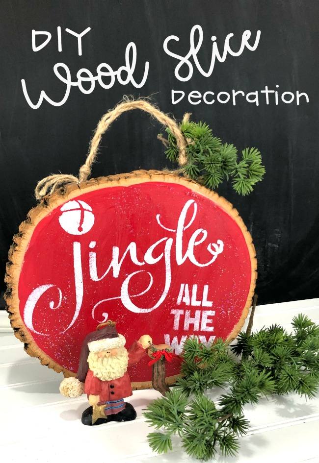 diy Wood Slice Decoration for Christmas